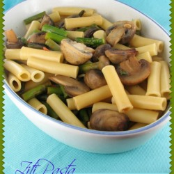 Ziti Pasta with Mushrooms & Asparagus