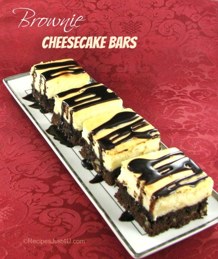 Brownie cheesecake bar recipe