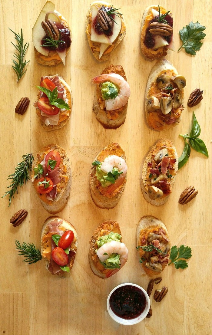 Four crostini appetizers to pair with Patron drink recipes