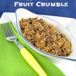 Pear and Apple Fruit Crumble - slimmed down to 230 calories and delcious