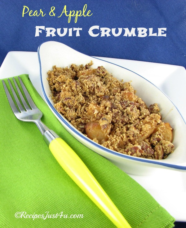 Apple and pear fruit crisp recipes just 4u for Apple pear recipes easy