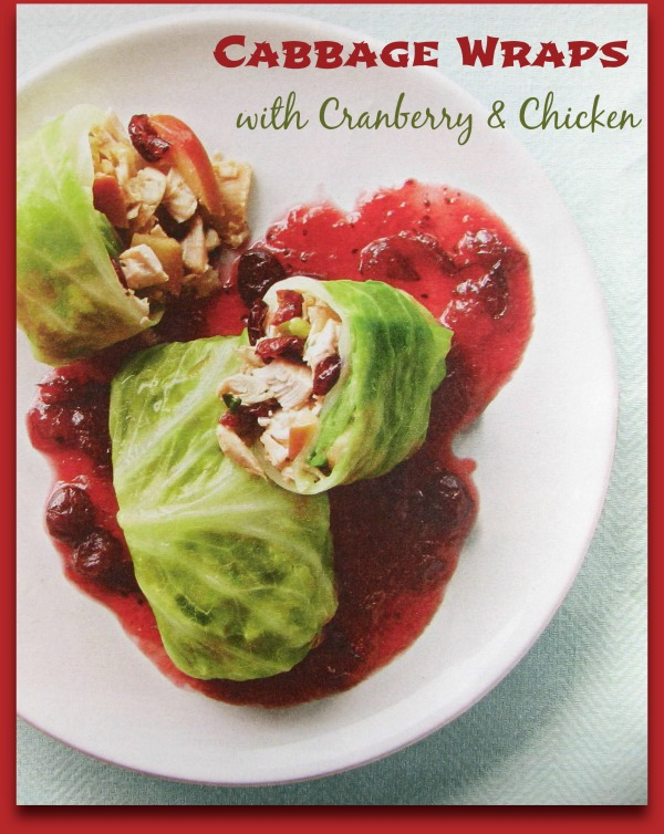 Cabbage wraps with Cranberries and Chicken