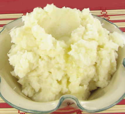 creamy and fluffy mashed potatoes. The perfect comfort food.