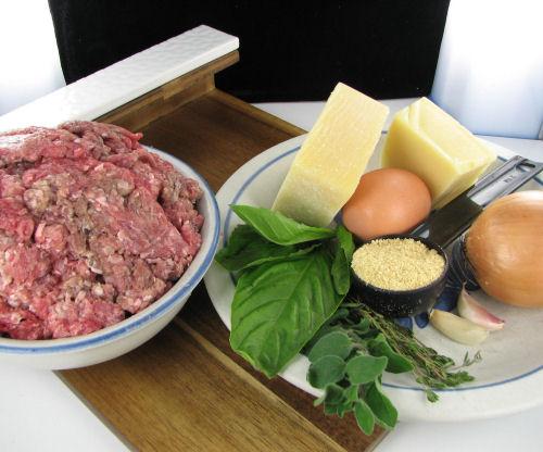 Ingredients for Parmesan meat loaf