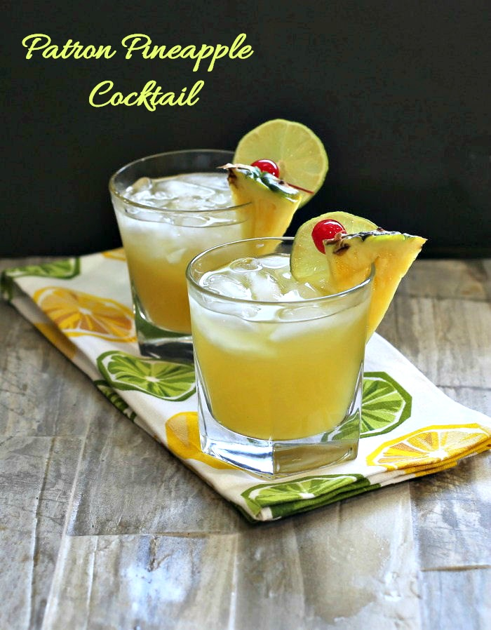 This Patron Pineapple cocktail is an upgrade on a margarita. It is fruity and tart and ready in just minutes.