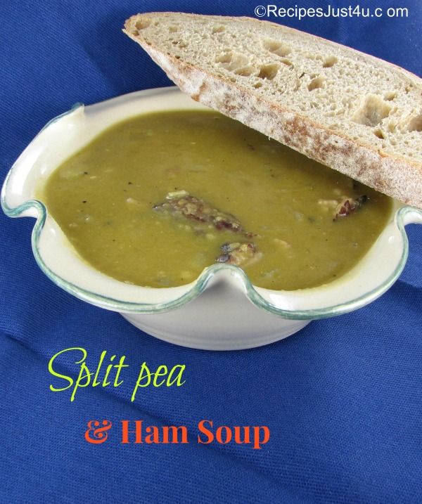 Homemade Split Pea & Ham soup