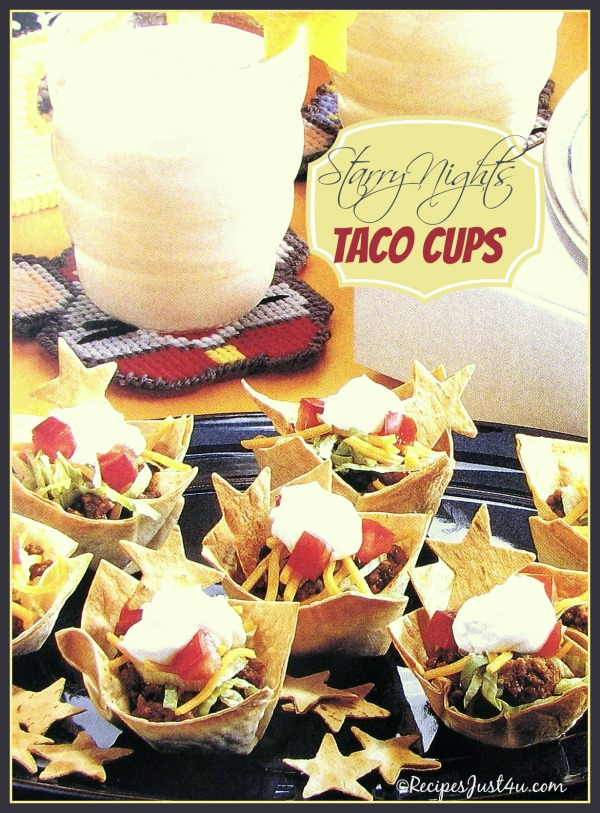 Taco Pizza Cups - Perfect Slumber party treat