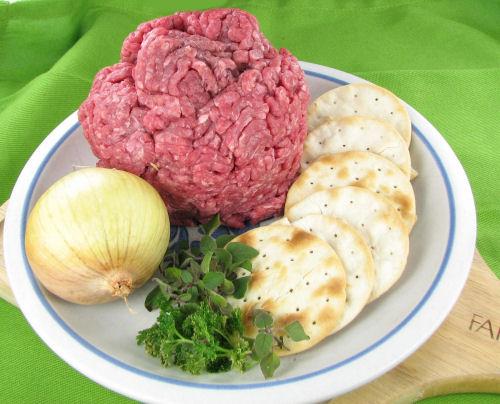 ingredients for Amish Salisbury steak