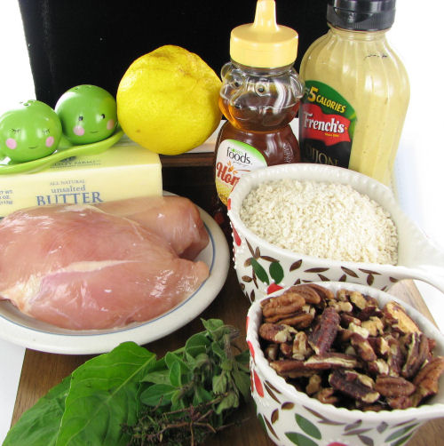 Ingredients for Honey Mustard pecan Chicken
