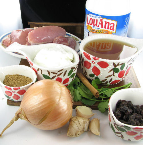 ingredients for mild chicken curry