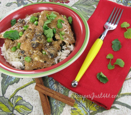 Savory and mild chicken Curry.  Perfect for those new to Indian cooking.  Easy and delcious!