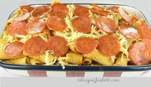 Easy Pizza Pasta ready to cook