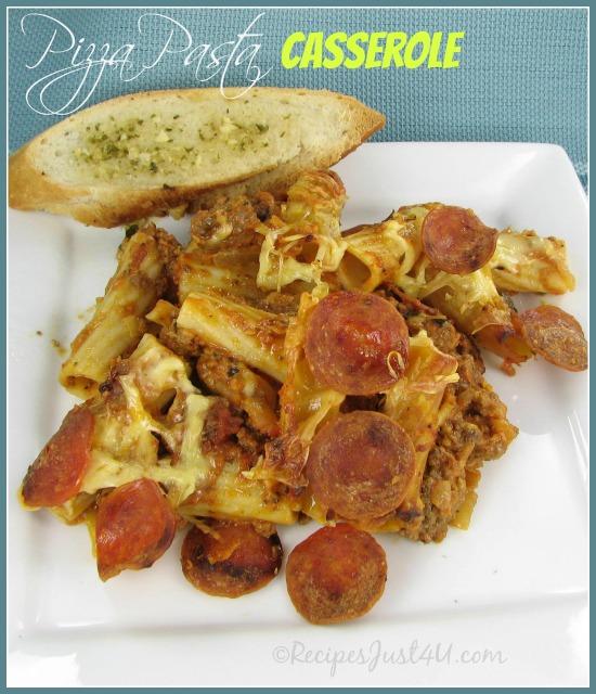 Easy Pizza Pasta Casserole