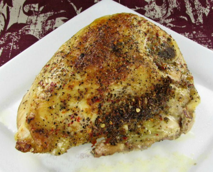 Herb crusted baked chicken breasts