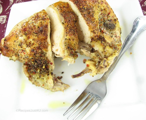 Herb Crusted Baked Chicken Breasts - Recipes Just 4U