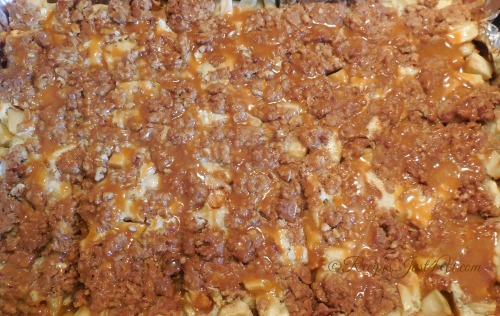 Butterscotch Apple Bars with drizzle