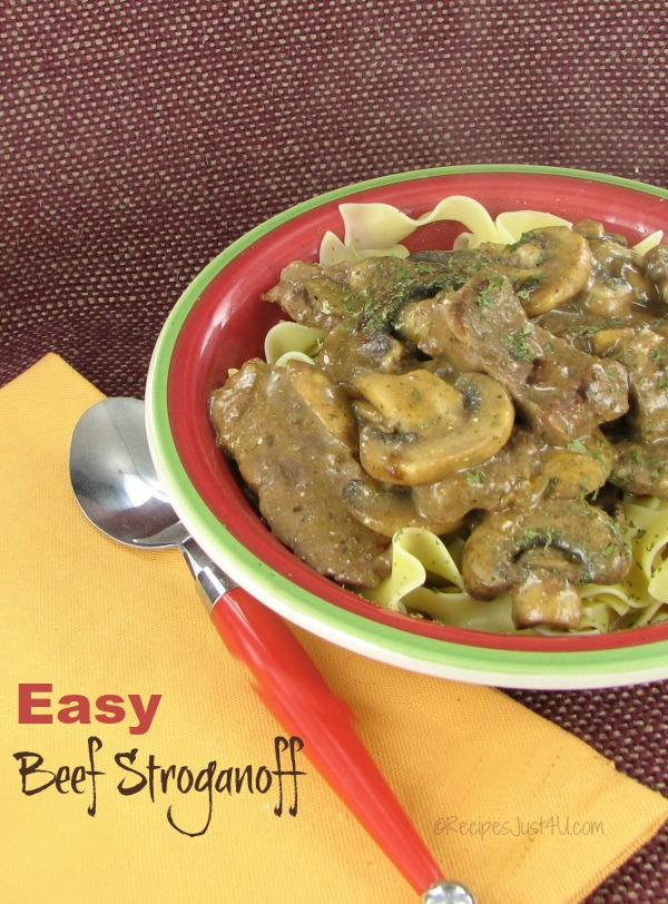 Easy Beef Stroganoff, on the table in 30 minutes!