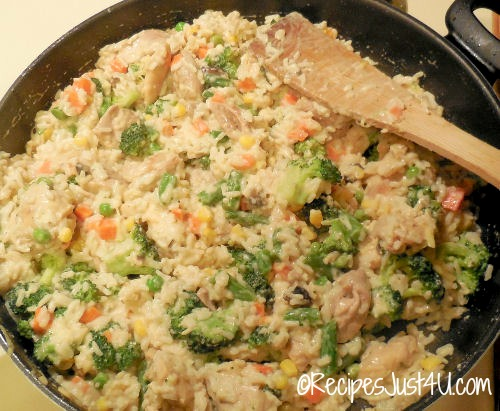 chicken and broccoli skillet recipe with cheddar cheese