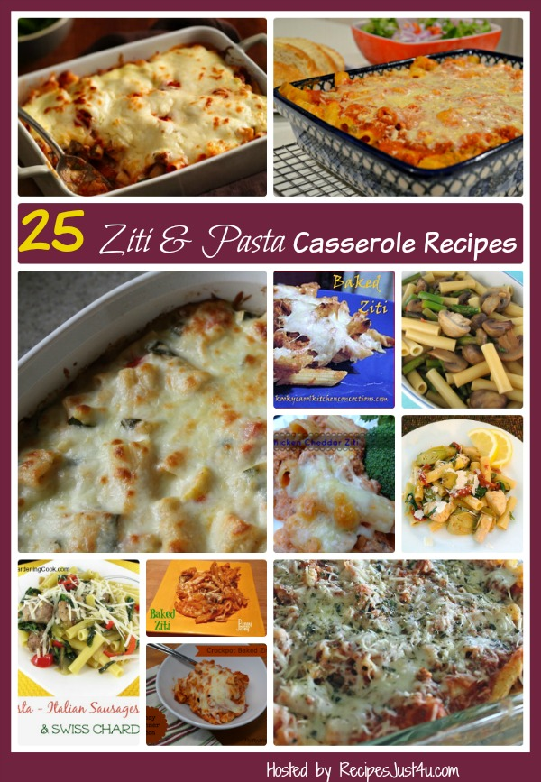 25 ziti casserole recipes