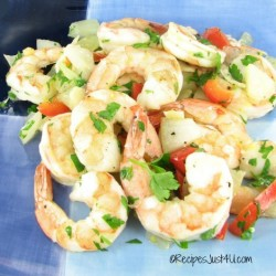Garlic Lemon Roasted Shrimp