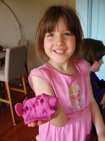 Use cookie cutters with play dough.