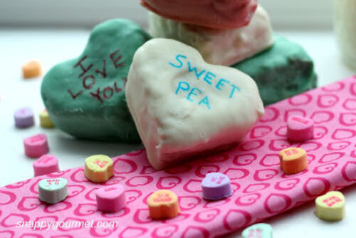 Rice Krispie Conversation hearts