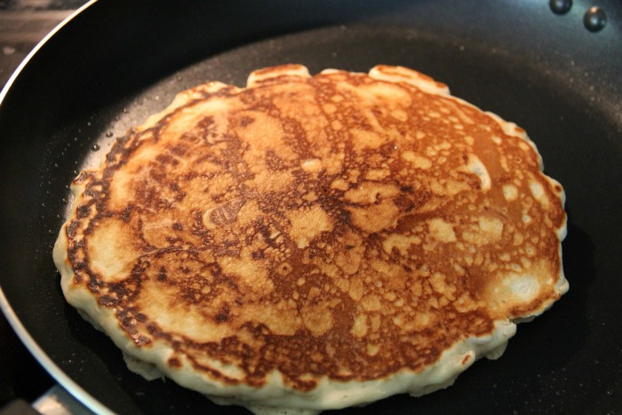 Test your pancakes to get them golden brown