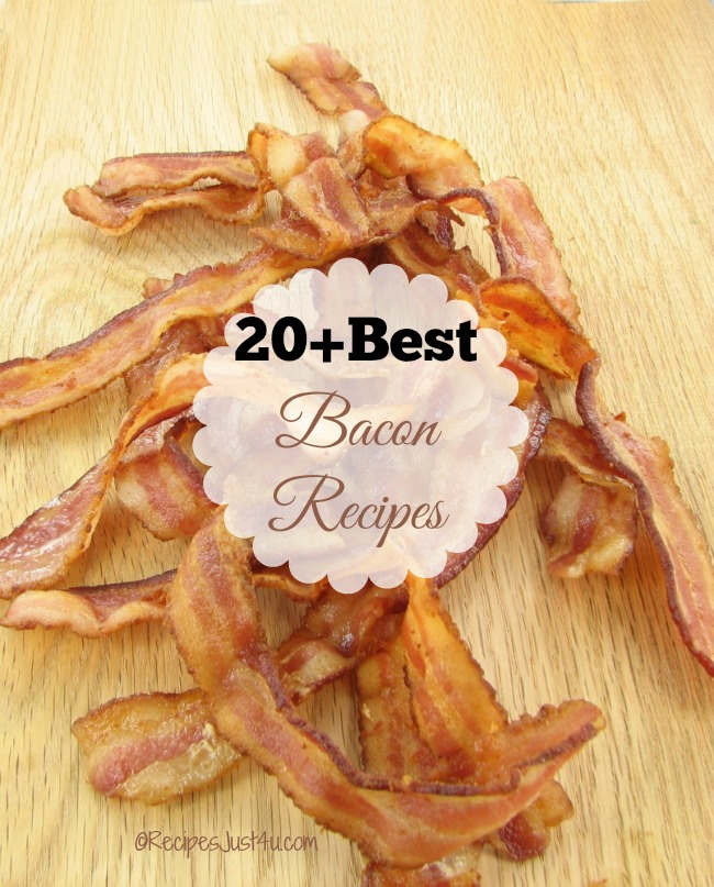 Do you know that the Saturday before Labor day is Bacon day? Celebrate the occasion with one of my top 20 Bacon recipes