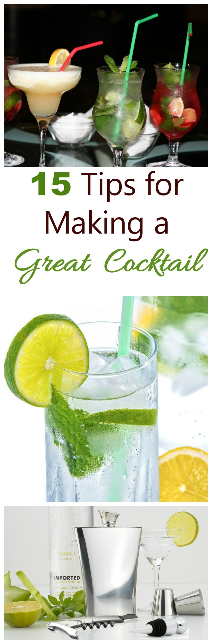 15 tips for making great cocktails