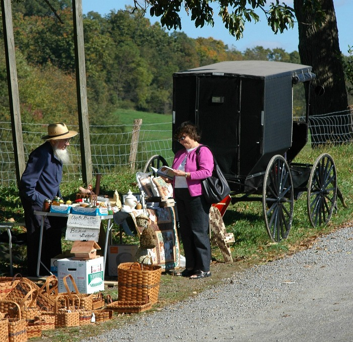 Amish road side seller