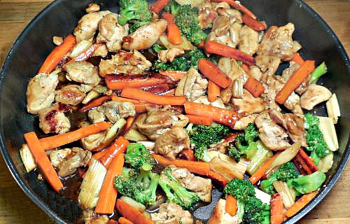 teriyaki chicken with vegetables  time for takeout at home