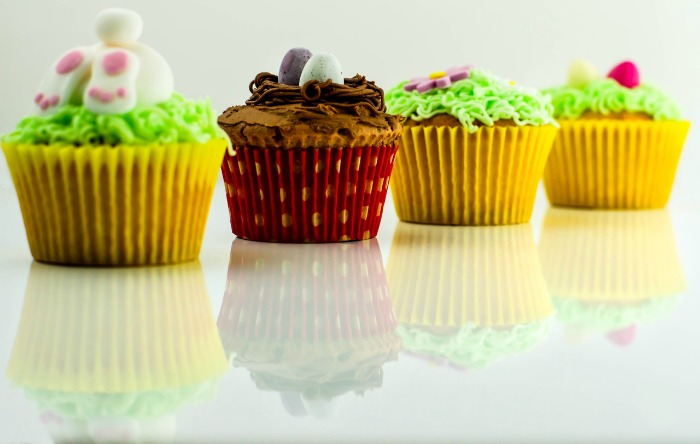 colorful decorated cupcakes