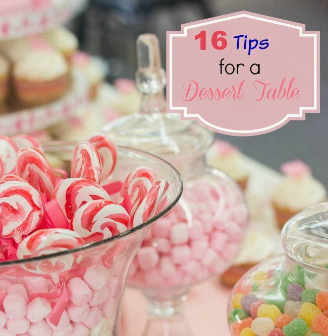 16 dessert table tips