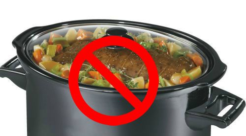 Don't over fill the crock pot