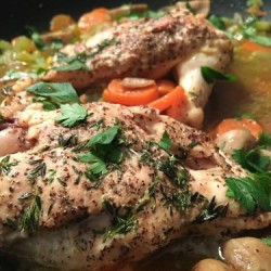 herbs and low fat broth add great flavor to chicken but don't add calories