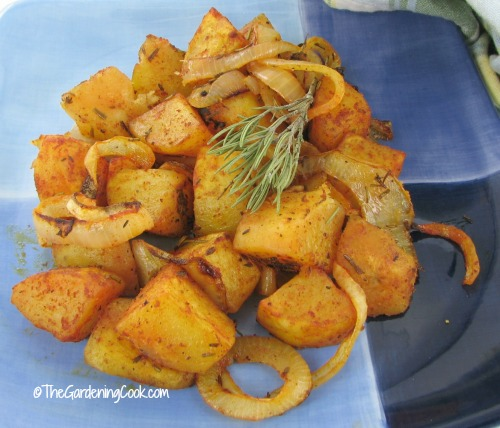 Roasted Italian potatoes.