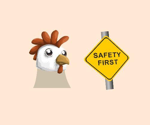 Safe chicken tips