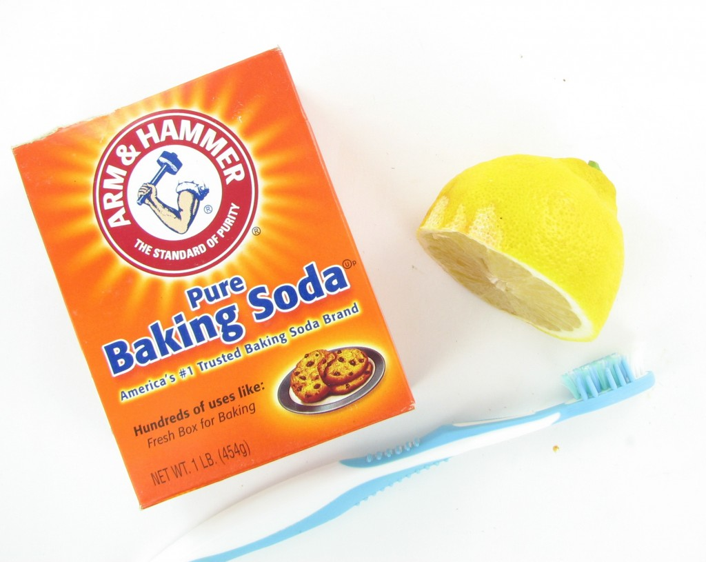 Lemon juice and baking soda makes a great tooth whitener