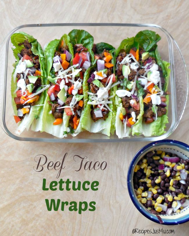 These beef taco lettuce wraps show that healthy eating is anything but boring.