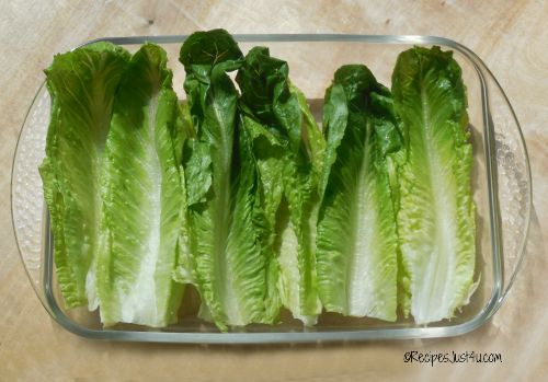 Romaine lettuce make great taco shells