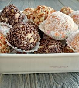 Candy Corn Oreo Truffles