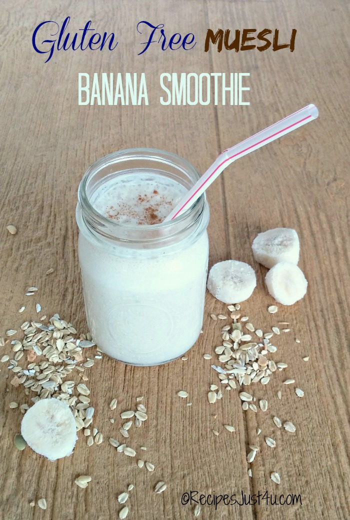 This Gluten free meusli banana smoothie takes me back to my early childhood days when hot oatmeal was our go to fall breakfast.