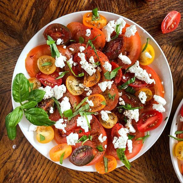 tomato mozzarella plate