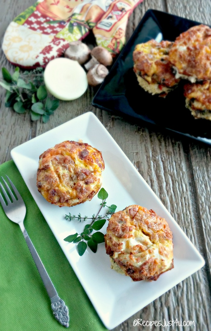 Bacon and Veggie Breakfast Egg Muffins