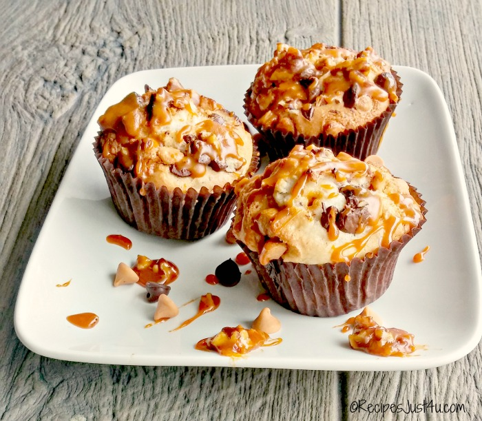 Chocolate Chip Caramel Muffins
