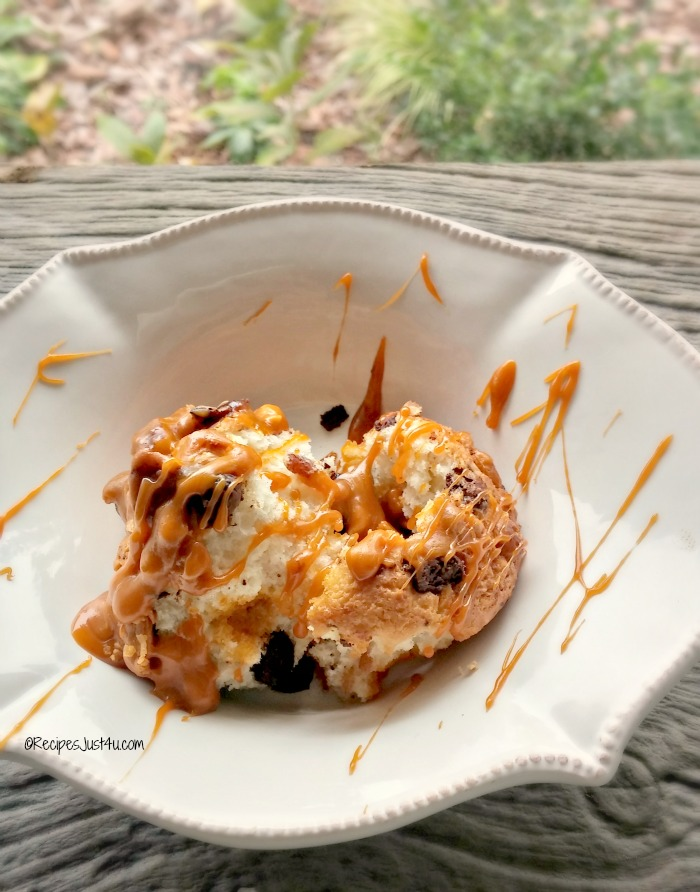 Caramel chocolate chip muffin