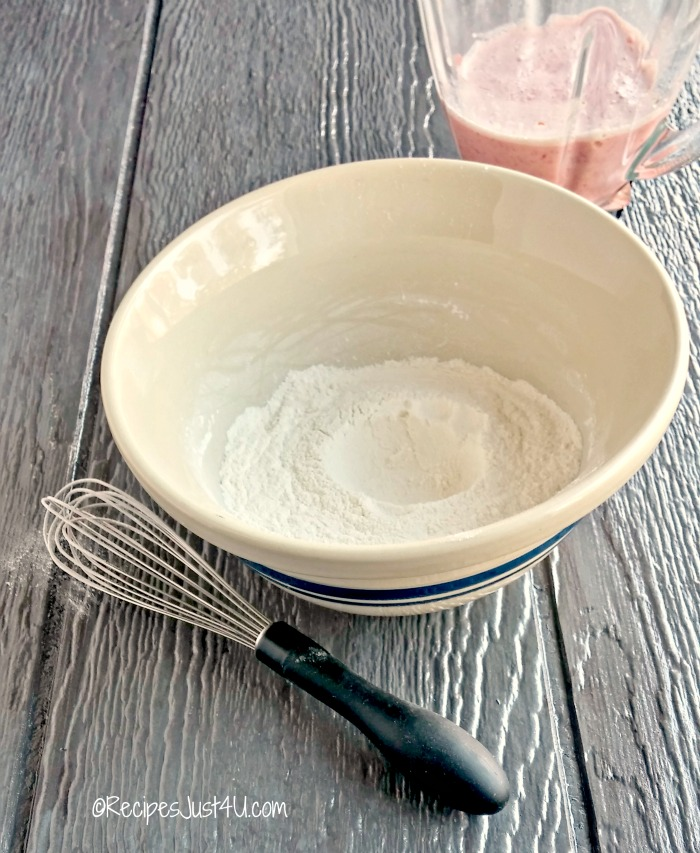 make a well in your dry ingredients.