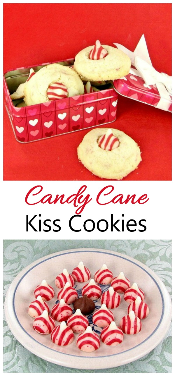 These candy cane kiss cookies are perfect for A Christmas cookie eschange.