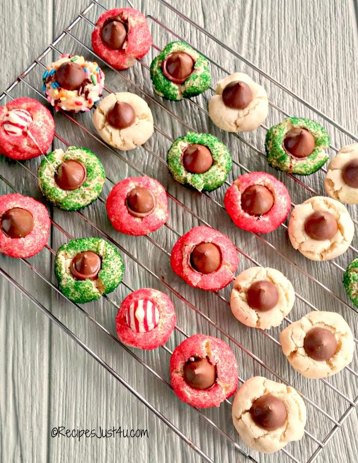 Candy Kiss cookie varieties
