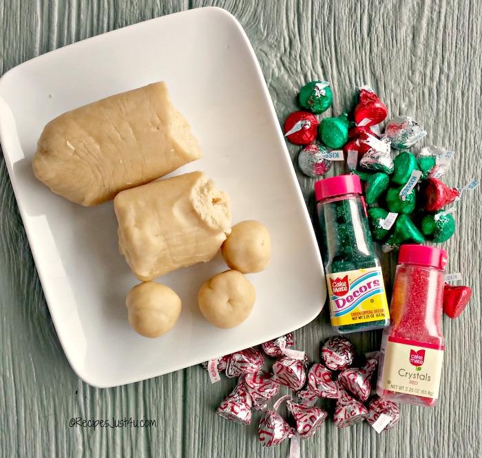 Ingredients for Kiss cookies